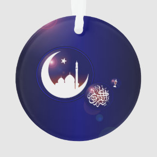 Mosque in Crescent Moon