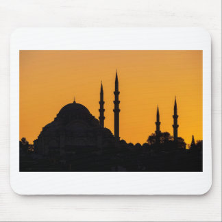 Mosque in Istanbul in Turkey with sunset Mouse Pads
