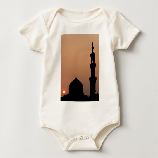 Mosque in the City of Cairo Baby Bodysuit