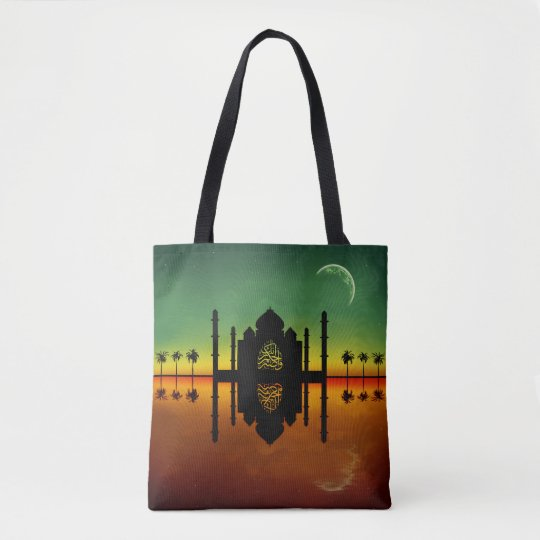 Mosque Night Reflection - All-Over-Print Tote Bag