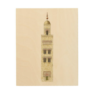 Mosque of Cordoba Spain. 10th century minaret. Wood Canvases