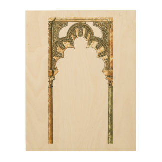 Mosque of Cordoba Spain. Caliphate arch Wood Wall Art