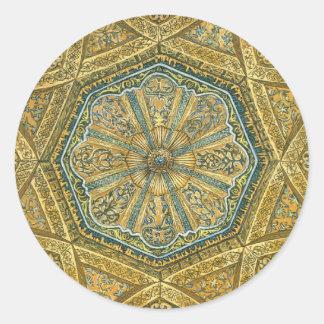 Mosque of Cordoba Spain. Mihrab cupola Round Sticker