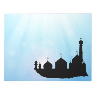 Mosque Silhouette with Sunrays - Notepad