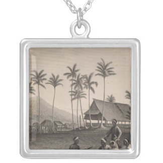 Mosque, Sooloo, Philippines Silver Plated Necklace