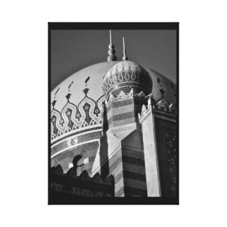 Mosque View Canvas Print