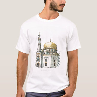 Mosque with gold onion dome and minaret T-Shirt