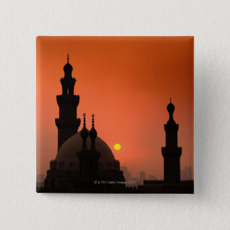 Mosques at Sunset 15 Cm Square Badge