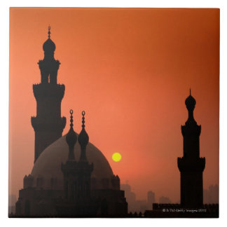 Mosques at Sunset Tile