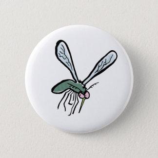 mosquito 6 cm round badge