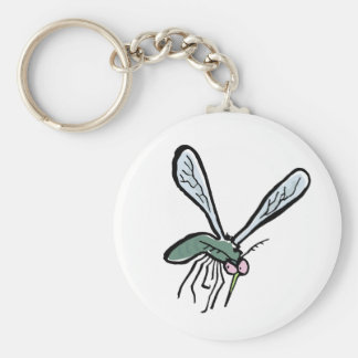 mosquito basic round button key ring