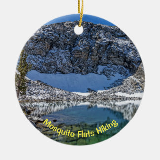 Mosquito Flats Hiking, Little Lakes Valley Christmas Ornament