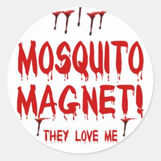 Mosquito Magnet Round Stickers