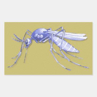 Mosquito Pop Art Rectangular Sticker
