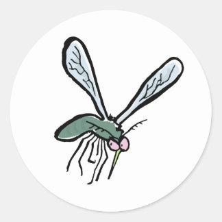 mosquito round sticker