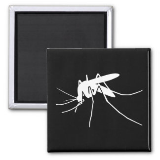 Mosquito Side View Square Magnet