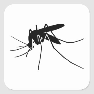 Mosquito Side View Square Sticker