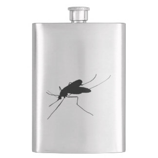 Mosquito Silhouette Nuisance insect/bug pest Hip Flask