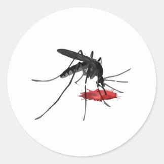 Mosquito Suck Round Sticker