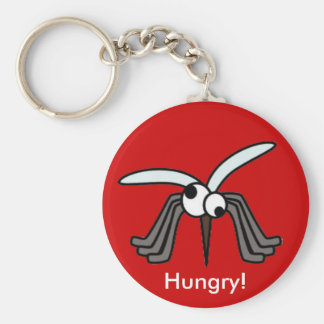 Mosquitoes - Hungry! Basic Round Button Key Ring