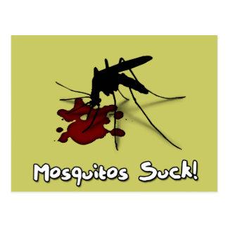 Mosquitos Suck Postcard
