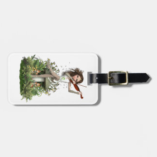 Moss Agate Fairy ~ Melody Luggage Tag