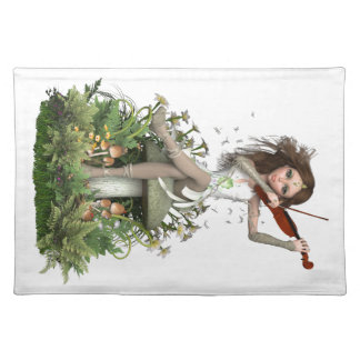 Moss Agate Fairy ~ Melody Placemat