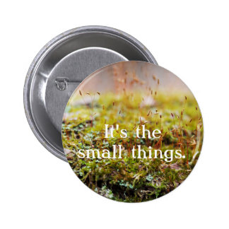 "Moss Button - ""It's the small things."""