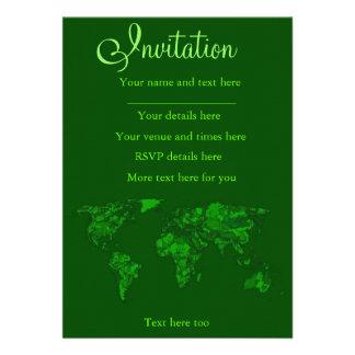 Moss green atlas custom announcements