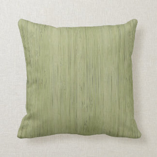 Moss Green Bamboo Wood Grain Look Cushion