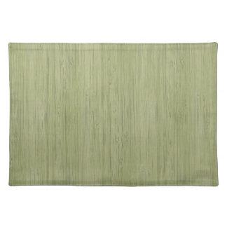 Moss Green Bamboo Wood Grain Look Placemat