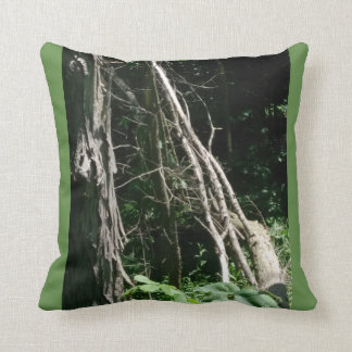 moss green camouflage throw pillow