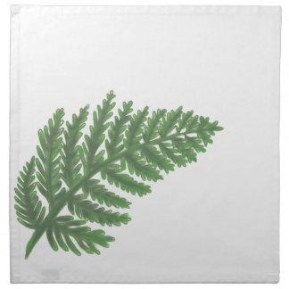 Moss Green Fern Napkin