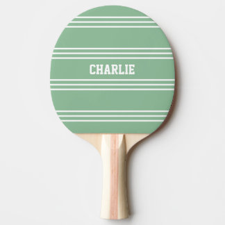 Moss Green Stripes custom monogram paddle