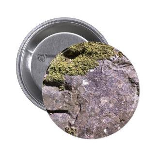 Moss growing on Australian granite in bush setting 6 Cm Round Badge