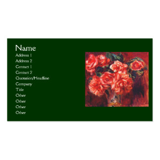 Moss Roses by Renoir Pack Of Standard Business Cards