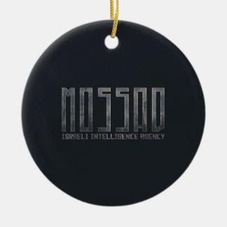 Mossad - Israeli Intelligence Agency Round Ceramic Decoration