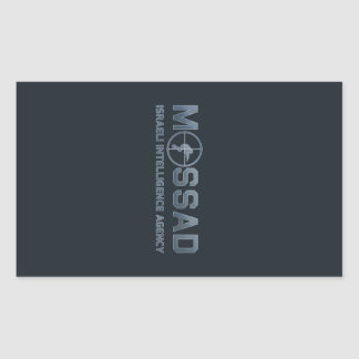 Mossad - Israeli Intelligence Agency - Scope Rectangular Sticker