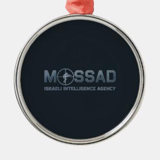 Mossad - Israeli Intelligence Agency - Scope Silver-Colored Round Decoration