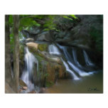 Mossy Falls - Painting Poster