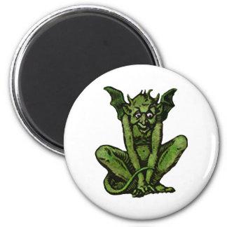Mossy Little Green Goblin Man 6 Cm Round Magnet