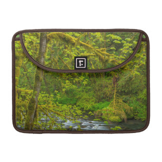 Mossy Rocks And Trees Line Eagle Creek Sleeve For MacBooks