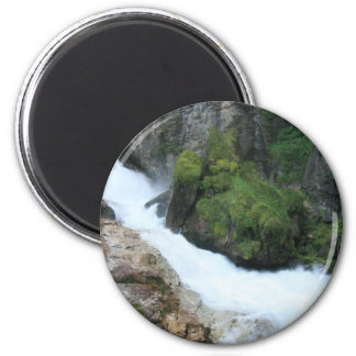 Mossy Waterfall 6 Cm Round Magnet