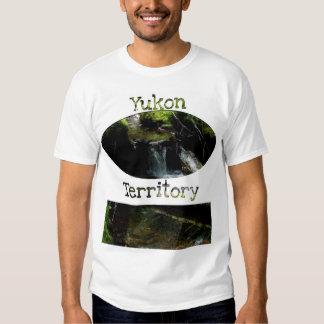 Mossy Waterfall; Yukon Territory Souvenir T-shirt
