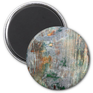 Mossy Wood 6 Cm Round Magnet