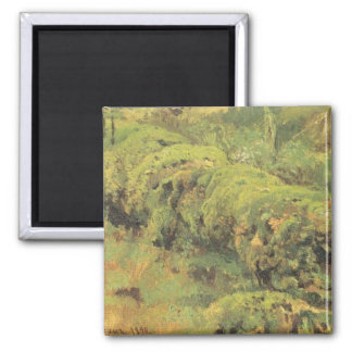 Mossy Wood by Ivan Shishkin Square Magnet