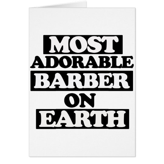 Most adorable barber card