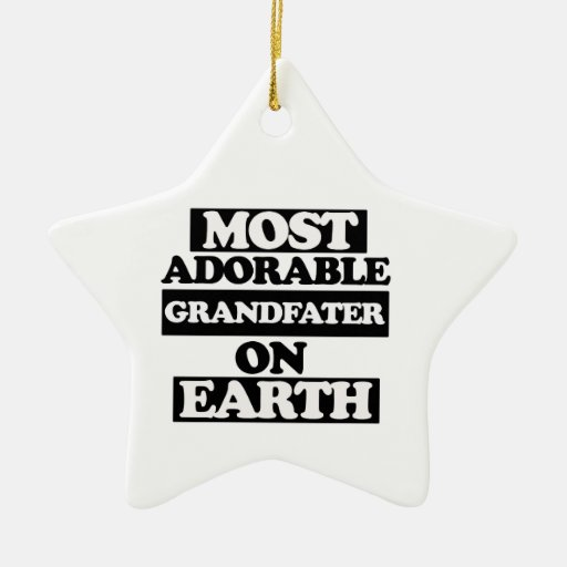 Most adorable grandfather christmas tree ornament