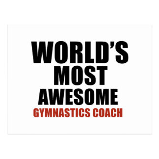Most awesome GYMNASTICS COACH Postcard