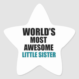 Most awesome sister star sticker